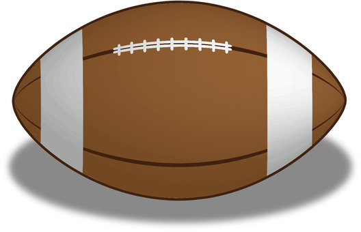 Rugby ball front