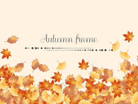 Fallen leaves frame 01 / yellow