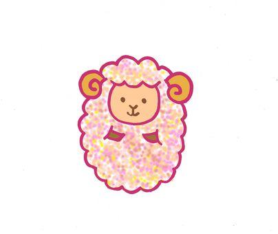 양 털이 핑크
