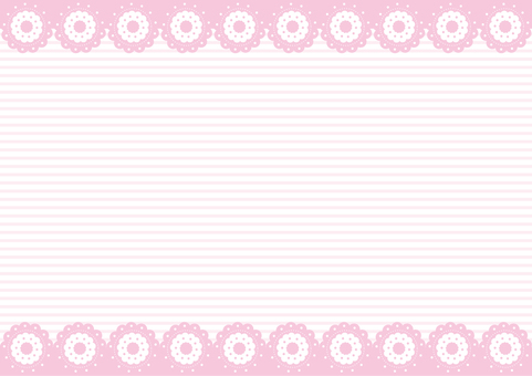 Wallpaper - Flower cookie - Pink