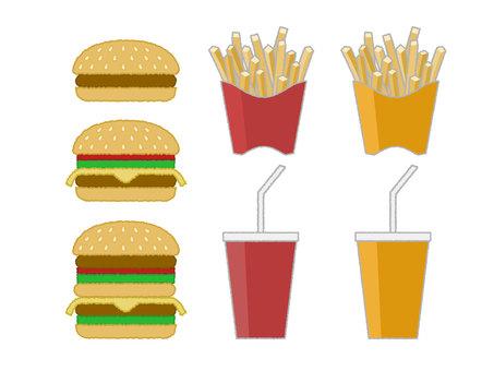 Hamburger and side menu