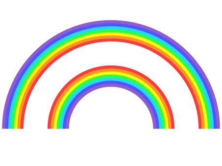 Main rainbow and secondary rainbow