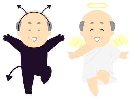 天使と悪魔_善と悪_おじさん