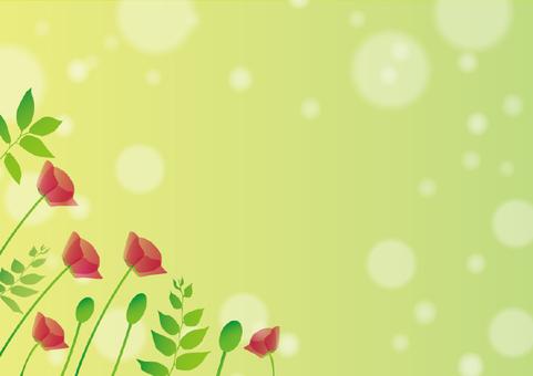 Fresh green and flower scenery