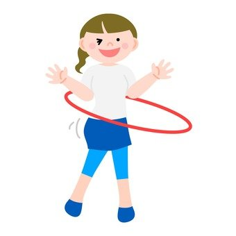 Woman turning hula hoop 2