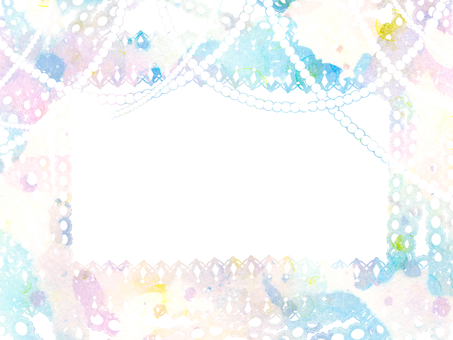 Hand-painted watercolor dream Yume lace pearl light blue