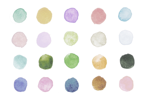 Watercolor polka dots-6