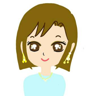 Icon Female Short Bob Earrings