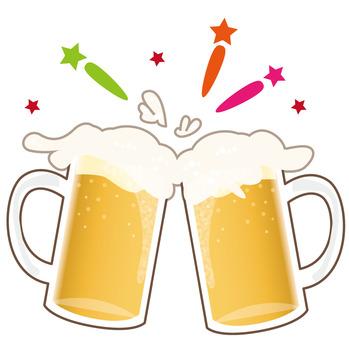 Summer beer toast