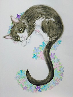 Cats and flower numbers 3