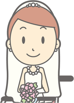 Bride dress - wheelchair smile - bust