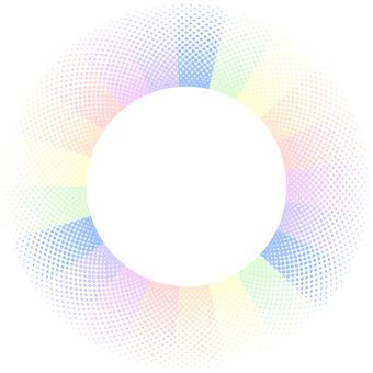 ドットグラデーション10・虹色