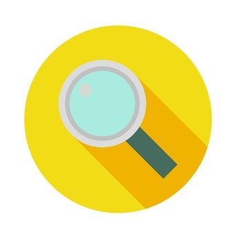 Flat icon - magnifying glass