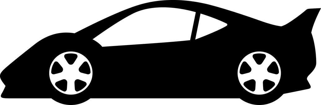 Car silhouette sports car