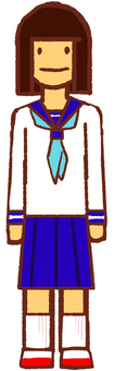 Junior high school girl 01