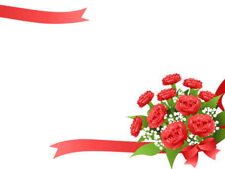 Carnation bouquet frame