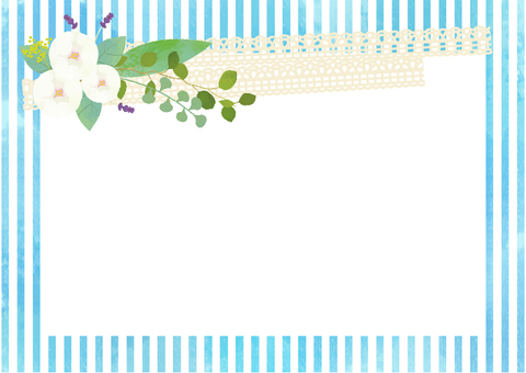 Flowers and lace and stripe cards