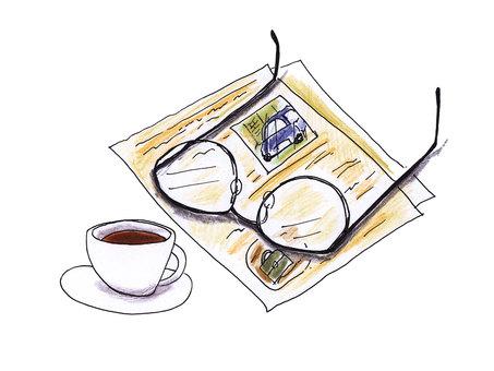 Glasses and leaflets