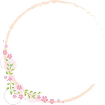 Decorative frame fresh green leaf yen