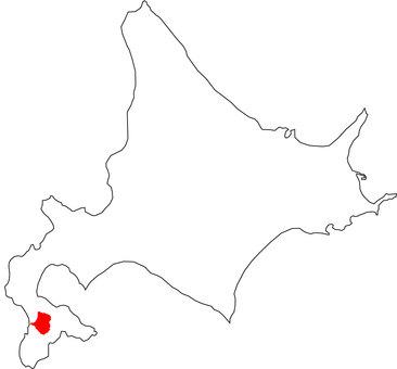 Map of Atsugawa-cho, Hokkaido