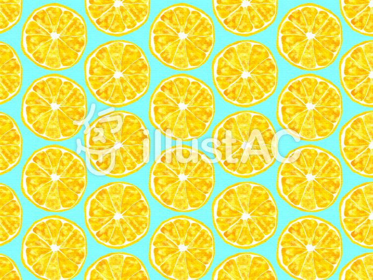 オレンジ(黄色背景ブルー)のイラスト