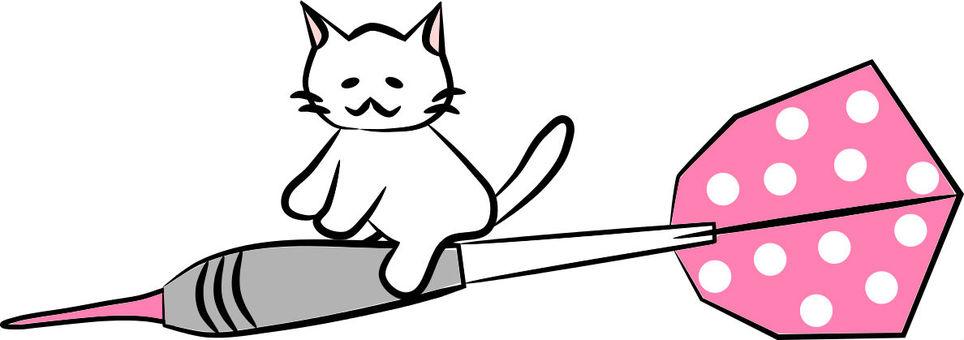 Nyanto飛鏢箭頭(粉紅色的圓點)