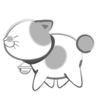 Sumi cats - walking