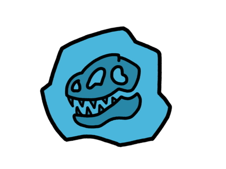 Fossil dinosaur blue
