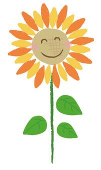 Sunflower hand-painted