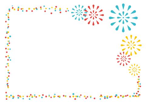 Summer material 017 Fireworks frame