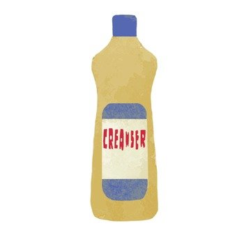 Hand-drawn-style cleanser