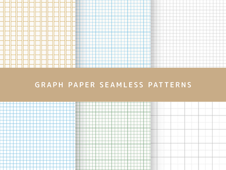 Graph paper pattern set