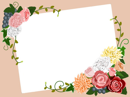 Autumn-colored bouquet luxurious frame