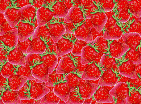 Real strawberry fills the screen