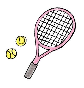 Tennis racket pink