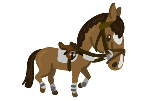 Deformed horse (walking 2 · equestrian (horseback riding))