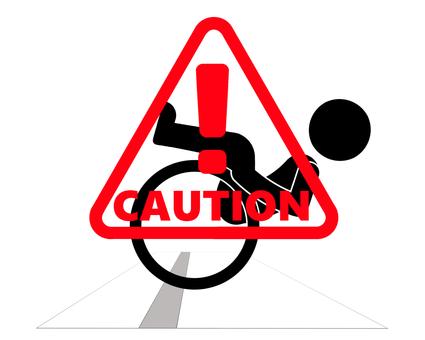 Falling caution