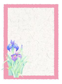 Japanese paper card (iris) ★ 0068-J