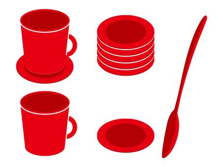 咖啡杯·勺子·杯墊04