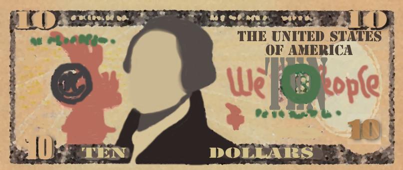 $ 10 bill