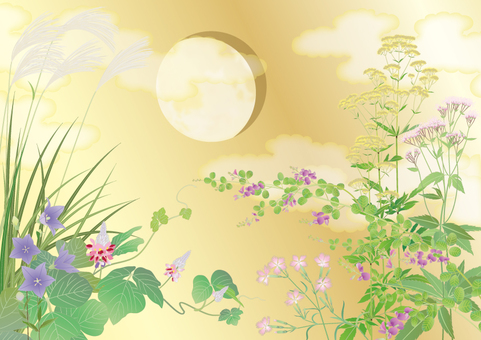 Fall seven gifts _ gold moon _ horizontal size