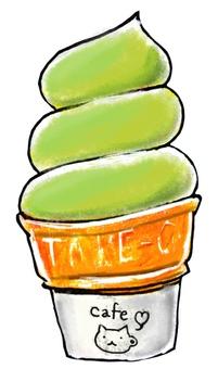 Soft ice cream matcha