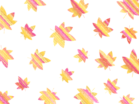 Autumn leaves background material 02 / yellow