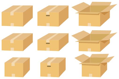Material set of cardboard box