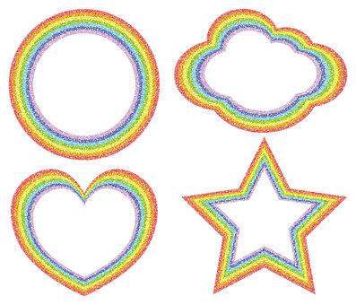 Rainbow Frame 4 types - Dot 2