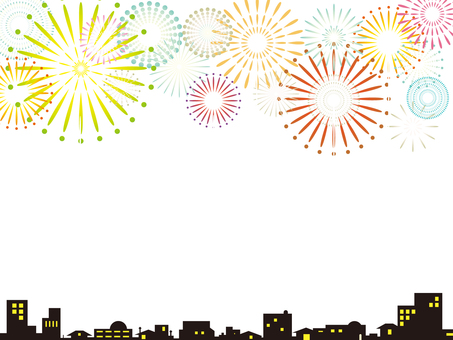 Fireworks display background (white)