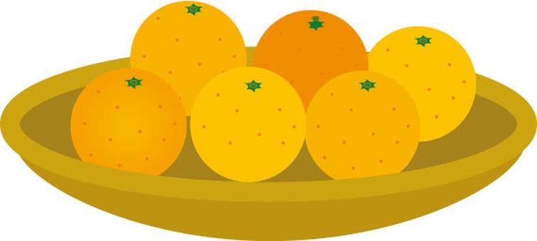 橘子和籃子