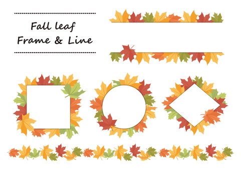 Fall leaf Frame&Line