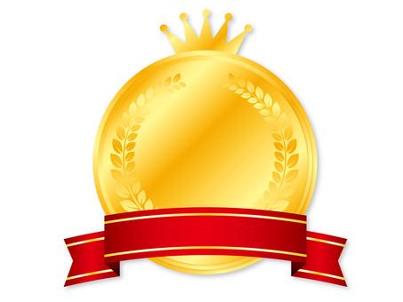Crown medal frame