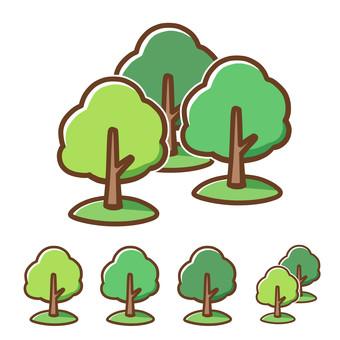 숲 (나무)의 무료 소재
